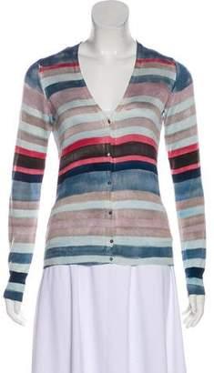 Loro Piana Silk Striped Cardigan