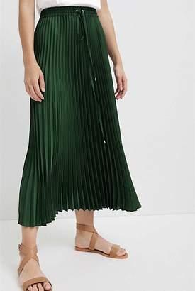 Witchery Tie Waist Pleat Skirt