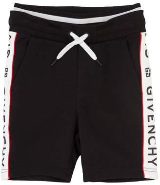 Givenchy Logo Printed Cotton Sweat Shorts