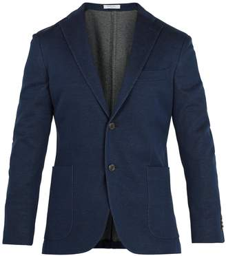 Boglioli Single-breasted cotton blazer