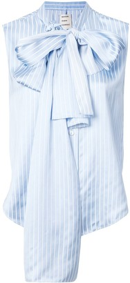 Maison Rabih Kayrouz bow detail sleeveless striped blouse