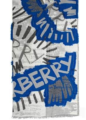 Burberry Graffiti Print Scarf