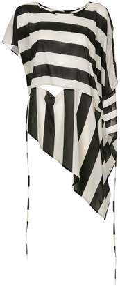 Taylor striped asymmetric blouse