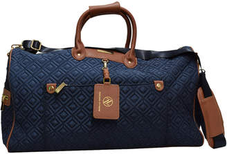 Adrienne Vittadini Diamond Quilted 22In Duffle Bag