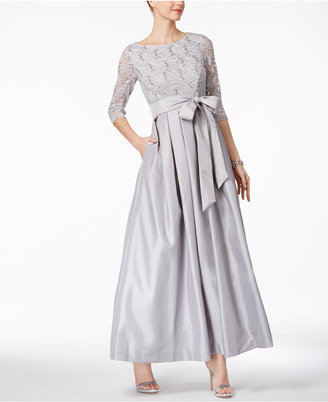 Jessica Howard Pleated Lace A-Line Gown $139 thestylecure.com