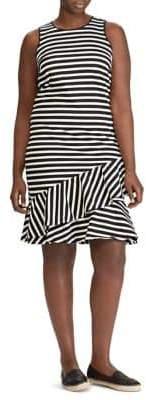 Lauren Ralph Lauren Plus Ruffled Cotton Dress