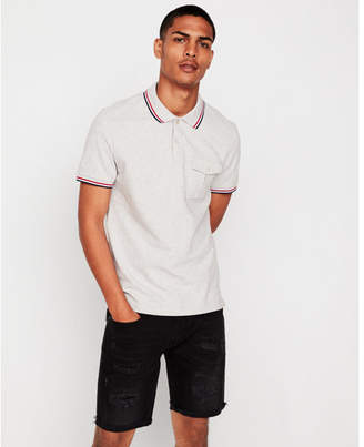 Express military tipped stretch pique polo