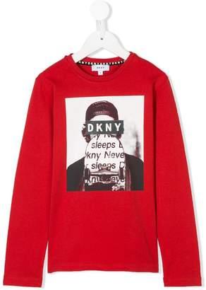 DKNY collage print T-shirt