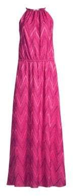 M Missoni Women's Chevron Halter Long Dress - Pink - Size XS