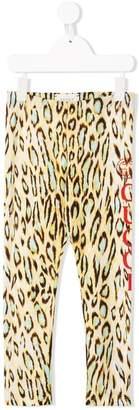 Gucci Kids logo leopard print leggings