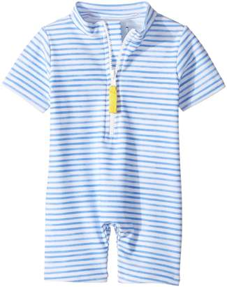 Toobydoo Blue Watercolor Sunsuit Girl's Swimsuits One Piece