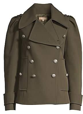 Michael Kors Women's Military Wool-Blend Peacoat