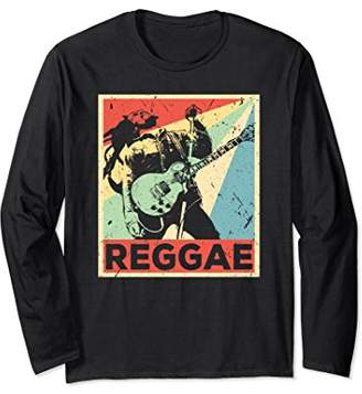 Reggae Vintage Retro Long Sleeve T Shirt