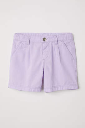 H&M Cotton Shorts - Purple