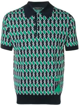 Prada jacquard polo shirt