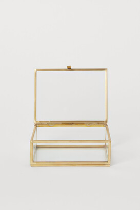 H&M Clear glass box