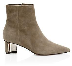 Clergerie Women's Secret Suede Point Toe Booties