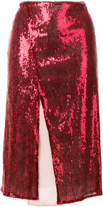 Christian Pellizzari sequin wrap midi skirt
