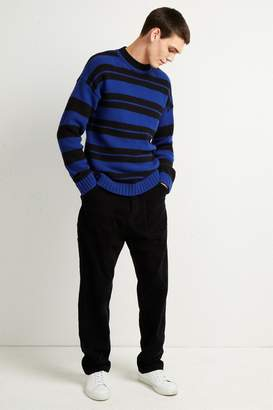 French Connenction Cotton Wool Varsity Stripe Sweater