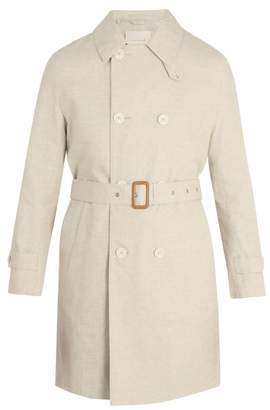 MACKINTOSH Point Collar Linen Overcoat - Mens - Beige
