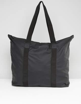 Rains Large Tote Bag In Black
