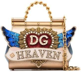 Dolce & Gabbana multicoloured Sicily heaven crystal embellished leather tote bag