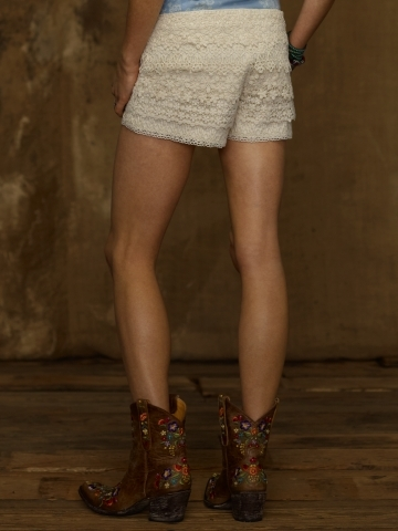 Denim & Supply Ralph Lauren Tiered Lace Short