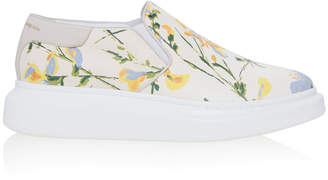 Alexander McQueen Floral Printed Loafers