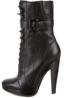 Burberry Round-Toe Ankle Boots Black Round-Toe Ankle Boots