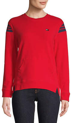 Tommy Hilfiger Crewneck Slit-Hem Sweatshirt