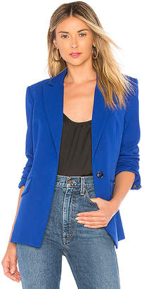 Milly Stretch Crepe Fitted Blazer