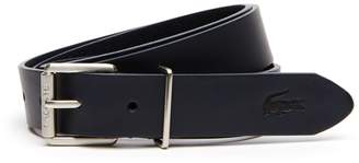 Lacoste Men's Engraved Rolling Tongue Buckle Leather Belt