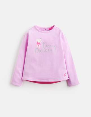 Joules Clothing Bessie Long Sleeve Screenprinted Tee 1yr
