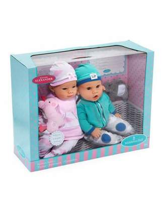 "Madame Alexander Dolls 16"" Newborn Twin Dolls"