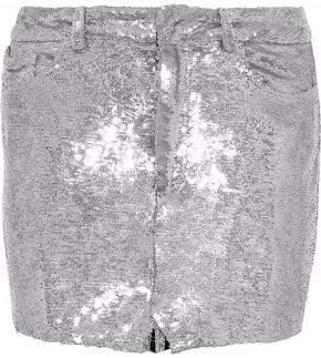 IRO Sequined Jersey Mini Skirt
