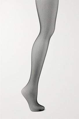 Wolford Twenties Fishnet Tights - Black