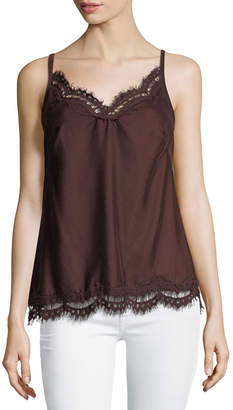 Max Studio Sleeveless Velvet Blouse