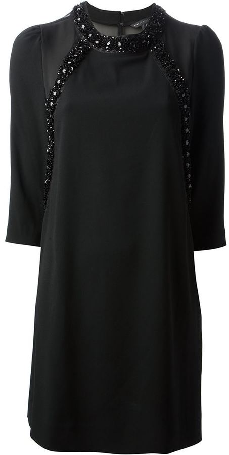Marc by Marc Jacobs bead embellished shift dress