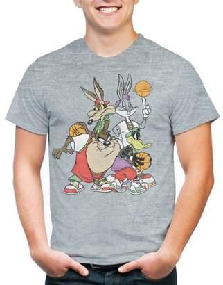 Looney Tunes Movies & TV Basketball Group Shot Big Men's Triblend Graphic T-Shirt, 2XL