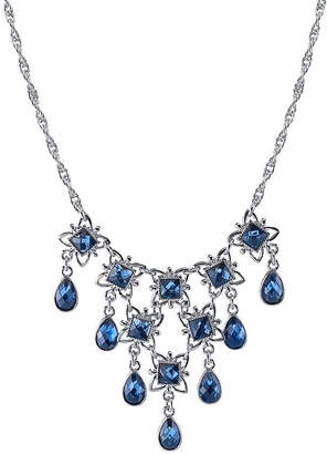 1928 Jewelry 1928 Vintage Inspirations Womens Blue Brass Statement Necklace