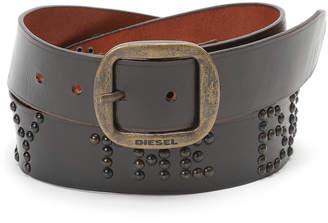 Diesel (ディーゼル) - DIESEL スタッズ ベルト ブラック 85