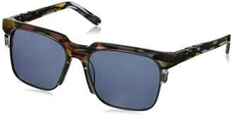 DAY Birger et Mikkelsen Pared Eyewear and Night Black Multi with Gunmetal Rim Wire Square Sunglasses