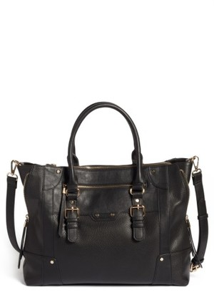 Sole Society Susan Faux Leather Tote - Black $69.95 thestylecure.com