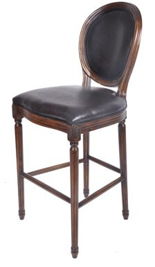 Best Quality Furniture Faux Leather Bar Stool, Solid Cherry wood 29""