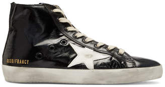 Golden Goose Black Shiny Francy High-Top Sneakers