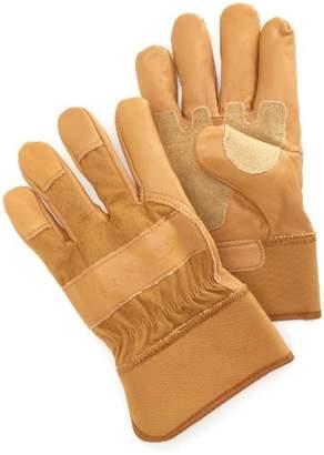 Carhartt Men's Grain Leather Work Glove with Safety Cuff