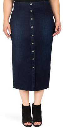 Standards & Practices Elain Denim Pencil Skirt