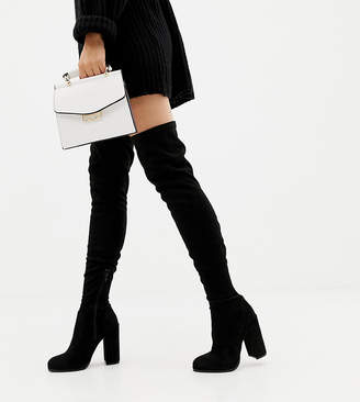 9e4a818b3c7 Asos Tall DESIGN Wide Fit Tall Kassidy heeled over the knee boots