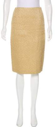 Andrea Incontri Knee-Length Raffia Skirt