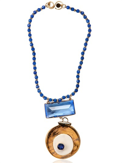 Gypsy Target Gold Plated Necklace